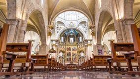 巴伦西亚,西班牙2016年12月02日:我们的巴伦西亚的夫人的做法的大教堂大教堂 库存图片