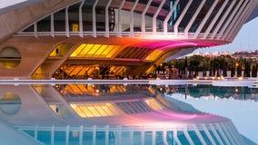 巴伦西亚,西班牙- 2016年12月02日:歌剧院,帕劳de les Arts 库存图片