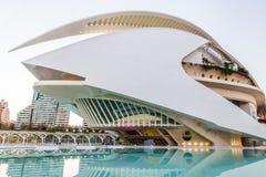 巴伦西亚,西班牙- 2016年12月02日:歌剧院,帕劳de les Arts 免版税库存图片