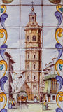 巴伦西亚,西班牙- 2016年12月02日:老瓦片圣徒凯瑟琳塔 库存照片