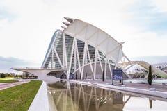 巴伦西亚,西班牙2016年12月01日:艺术和科学城市 免版税库存图片