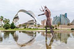 巴伦西亚,西班牙2016年12月01日:艺术和科学城市 免版税图库摄影