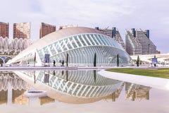巴伦西亚,西班牙2016年12月01日:艺术和科学城市 库存图片