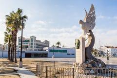 巴伦西亚,西班牙- 2016年12月03日:雕塑安东尼奥Ferrandis 免版税库存照片