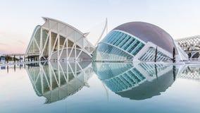 巴伦西亚,西班牙- 2016年12月02日:Hemisferic和科技馆 免版税库存照片