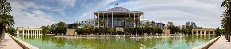 巴伦西亚,音乐宫殿  图库摄影