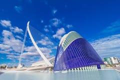 巴伦西亚-艺术和科学城市 图库摄影