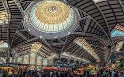 巴伦西亚主要市场内部 免版税库存照片