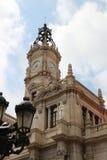 巴伦西亚Plaça de l'Ajuntament 免版税库存图片