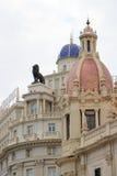 巴伦西亚Plaça de l'Ajuntament 免版税图库摄影