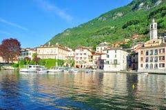 伦诺,科莫湖,意大利 免版税库存照片
