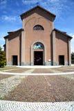 伦巴第在jerago老教会封锁了ital的边路 库存图片