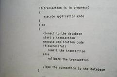 伪代码 免版税库存照片