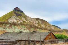 伪善言辞大农场在约翰迪化石床国家公园 免版税库存图片