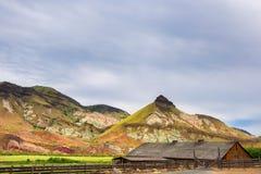 伪善言辞大农场在约翰迪化石床国家公园 库存照片
