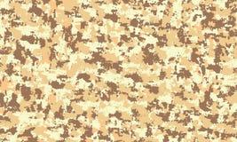 伪装军事无缝的样式背景 经典衣物样式掩没的camo重复印刷品沙子沙漠纹理 向量例证