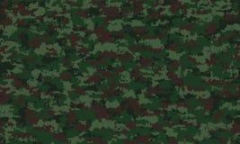 伪装军事无缝的样式背景 经典衣物样式掩没的camo重复印刷品 向量例证