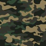 伪装无缝的样式背景 经典衣物样式掩没的camo重复印刷品 绿色棕色黑橄榄颜色 库存照片