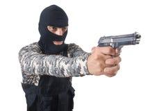 伪装的战士 免版税库存图片