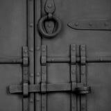 伪造的古色古香的门 图库摄影