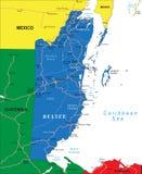 伯利兹地图 免版税库存照片