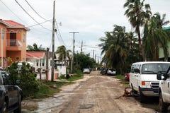 伯利兹城市道路 免版税库存图片