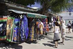 伯利兹市巡航端口购物 库存照片