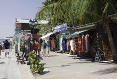 伯利兹市端口购物 图库摄影