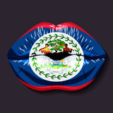 伯利兹标志 免版税图库摄影