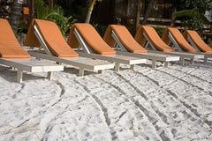 伯利兹海滩场面 免版税库存照片