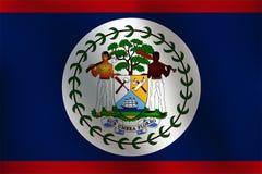 伯利兹-传染媒介例证旗子  免版税库存照片
