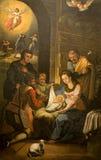 伯利恒圣诞节小儿床 免版税库存照片