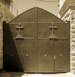 伯利恒教会门 免版税库存照片