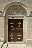 伯利恒教会门 免版税库存图片
