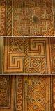 伯利恒,以色列-大约2011年11月:美丽的地板马赛克在诞生教会,伯利恒里 免版税库存照片