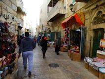 伯利恒,巴勒斯坦以色列街道场面  免版税库存图片