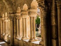 伯利恒,以色列心房哥特式走廊在圣Catharine教会的 免版税库存图片