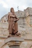 伯利恒,以色列- 2013年2月19日:圣杰罗姆纪念碑 库存照片