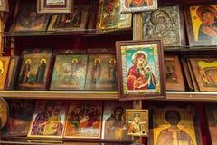伯利恒,以色列- 2013年2月19日:纪念品店wi墙壁  免版税库存图片