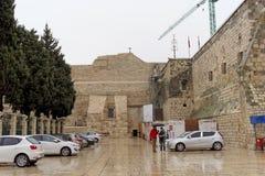 伯利恒,以色列 - 2月15日 2017年 诞生的教会在伯利恒 免版税库存照片