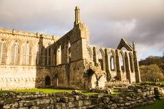 伯勒屯修道院和小修道院废墟 免版税库存照片