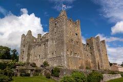 伯勒屯城堡-中世纪城堡-约克夏山谷-英国 图库摄影