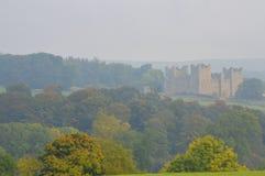 伯勒屯城堡Wensleydale 库存图片