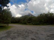 伯尔坎阿雷纳尔在哥斯达黎加 库存照片
