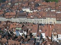 伯尔尼屋顶瑞士顶层 免版税图库摄影