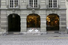 伯尔尼拱廊  库存图片