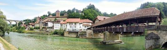 伯尔尼桥梁- Pont de伯尔尼,瑞士 免版税库存照片