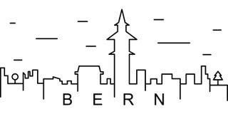 伯尔尼概述象 能为网,商标,流动应用程序,UI,UX使用 向量例证