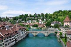 伯尔尼老瑞士城镇 库存图片