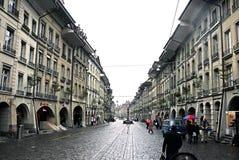 伯尔尼耶路撒冷旧城在瑞士- 2012年6月 库存照片